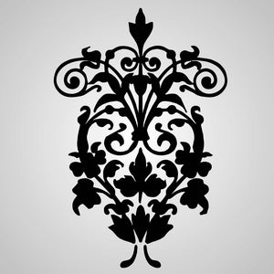 BAROQUE ORNAMENT Big & Small Sizes Colour Wall Sticker Shabby Chic Romantic Style 'B4'