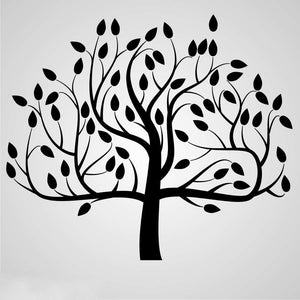 BIG SYMMETRIC TREE Sizes Reusable Stencil Shabby Chic Romantic Style 'Tree26'