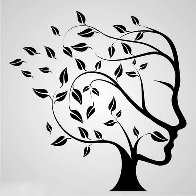 Tree of Life Reusable Stencil Sizes Human Head Face Modern Art 'Treeoflife6'