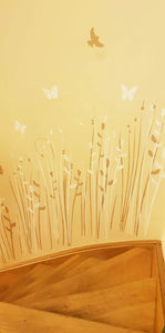 THICKET BRUSHWOOD GRASS Sizes Reusable Stencil Shabby Chic Romantic Style 'Flora39'