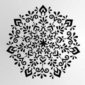 Mandala Flower Star Round SIZES Reusable Stencil Wall Decor Oriental / M21