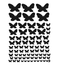 SET OF BUTTERFLIES KIDS ROOM Sizes Reusable Stencil Animal Modern Style 'Kids109'