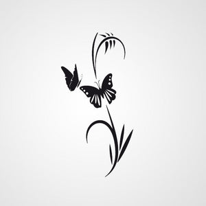 FLOWER PLANT BUTTERFLY Sizes Reusable Stencil Shabby Chic Romantic Style 'Flora4'