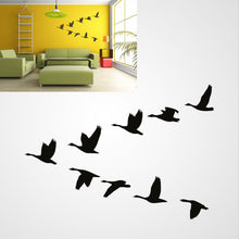 V FORMATION FLYING BIRDS Big & Small Sizes Colour Wall Sticker Shabby Chic Romantic Style 'Birds117'