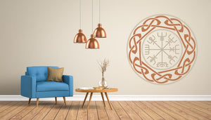 Celtic Runes Wales Mandala Big & Small Sizes Colour Wall Sticker Oriental Modern / M13