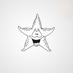 HAPPY STARFISH KIDS ROOM Big & Small Sizes Colour Wall Sticker Animal Modern Style 'Kids115'