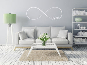 INFINITY SIGN LOVE ,,WE'' QUOTE Sizes Reusable Stencil Modern Romantic Style 'Q13'