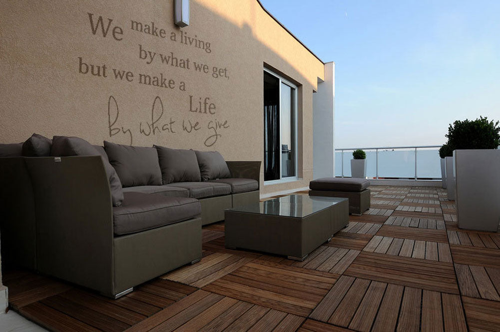 ,WE MAKE A LIFE BY WHAT WE GIVE..' QUOTE Big & Small Sizes Colour Wall Sticker Modern 'Q25'