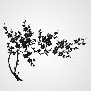 BRANCH & FLOWERS AND SPIKES Big & Small Sizes Colour Wall Sticker Tree Floral Modern Style 'J36'