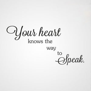 ,,YOUR HEART KNOWS THE WAY TO SPEAK'' QUOTE Sizes Reusable Stencil  Valentine's Modern Style 'Q51'