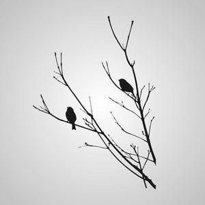 BIRDS ON THE TREE BRANCH Big & Small Sizes Colour Wall Sticker Shabby Chic Romantic Style 'Tree6'