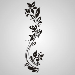 ARTISTIC FLOWER PLANT Sizes Reusable Stencil Oriental Romantic Style 'DecoX'