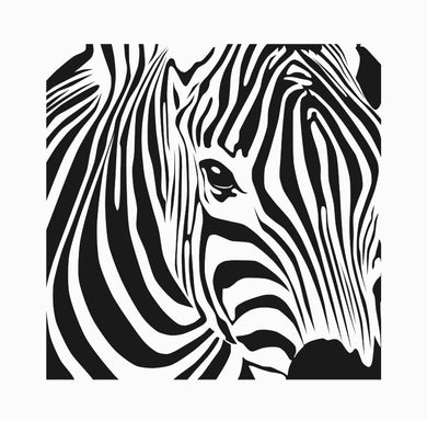 ZEBRA KIDS ROOM Sizes Reusable Stencil Modern Animal Safari Style / Kids140