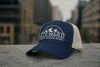 Full Logo Trail Trucker Hat - Navy