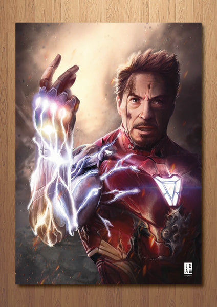 Ironman Snap Art Print