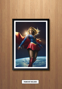 Super Girl Art Print