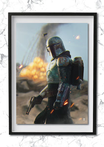 "Boba Fett ""I was aiming for the other one"" Art Print"
