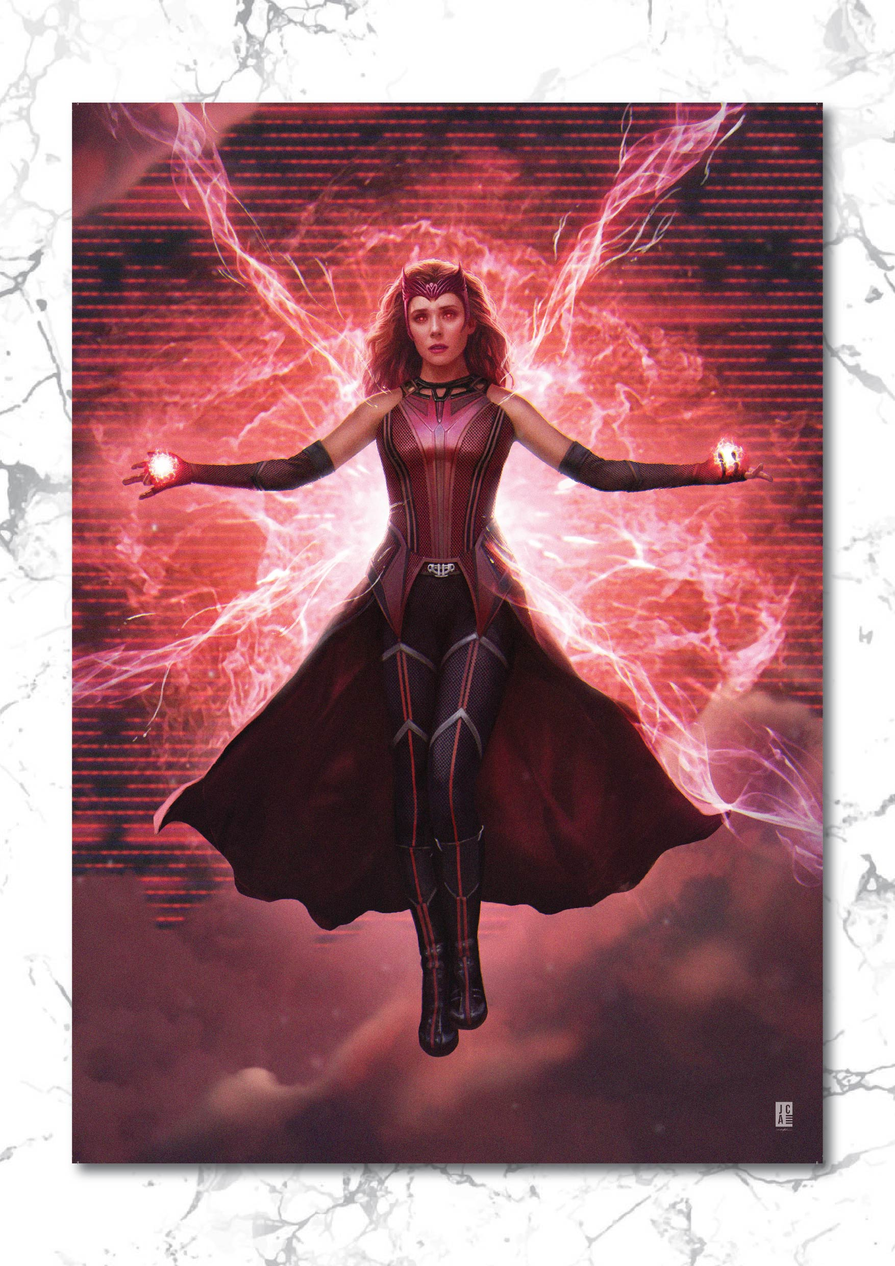 The Scarlet Witch Art Print
