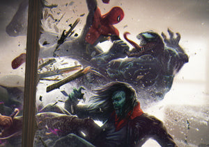Blade & Spider-man Vs Morbius and Venom