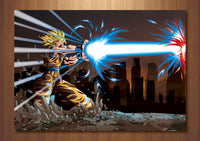 Superman Vs Goku COMBO Art Prints