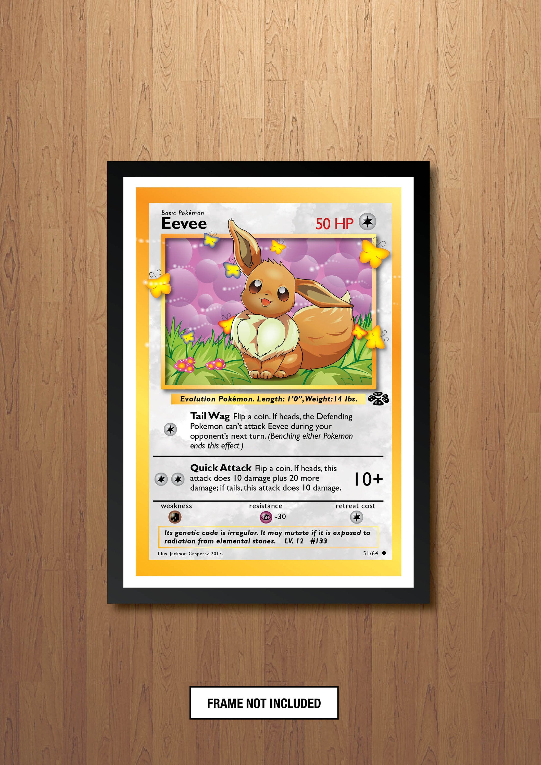 Evee - Giant Pokemon Card Print