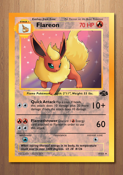 Flareon - Giant Pokemon Card Print