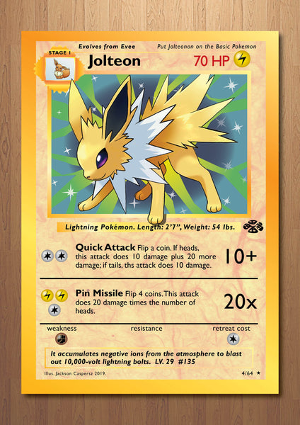 Jolteon - Giant Pokemon Card Print