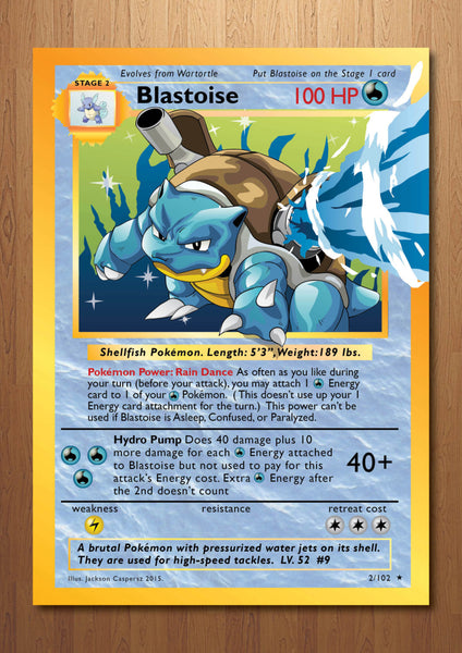 Blastoise - Giant Pokemon Card Art Print