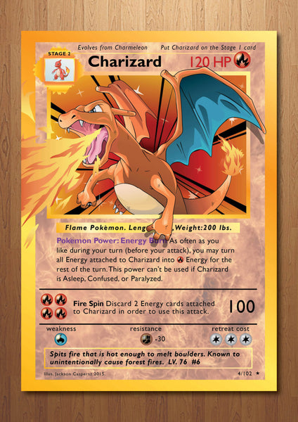 Charizard - Giant Pokemon Card Art Print
