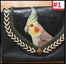 Cockatiel Leather Clutch Purse Wallet