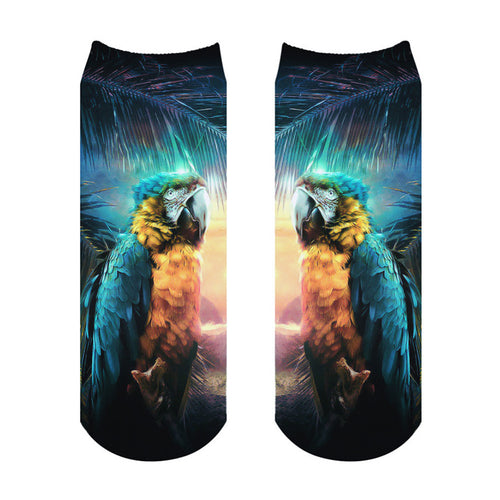 Blue & Gold Macaw Ankle Socks