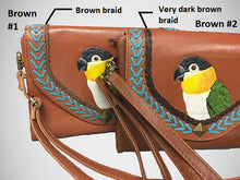 Black-headed Caique Leather Clutch Wallet