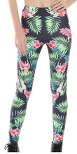 Tropical sulfur-crested cockatoo parrot leggings - front view