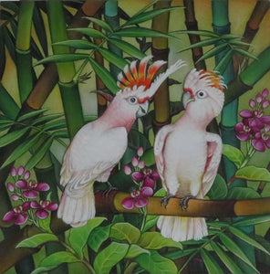 Leadbeater Cockatoo Original Painting Acrylic on Canvas