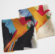Buttery-soft, silk-feel parrot scarf with macaws, cockatoos & more! A great bird gift idea!