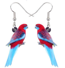 Cute Rosella parakeet pierced earrings