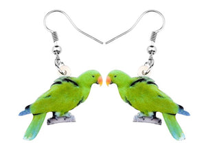 Male Eclectus Parrot pierced drop earrings