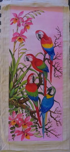 3 Types of Macaws Original Acrylic on Canvas Painting