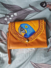 Hyacinth Macaw Leather Clutch Purse Wallet