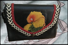 Sun Conure Leather Clutch Purse