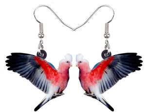 Cute Galah cockatoo pierced earrings