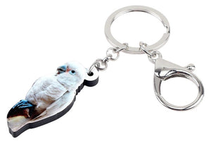 Goffin cockatoo perching - key ring keychain