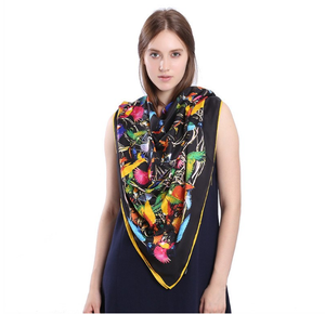 Oversized silk - blend hummingbird scarf for the bird lover. A great gift idea.