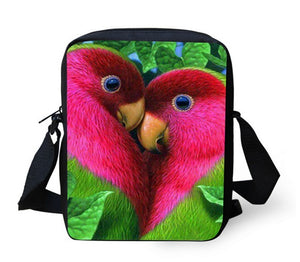 Lovebirds Small Cross-body / Make-up Bag