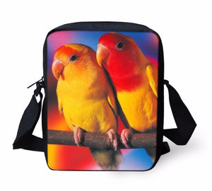 Lutino Lovebirds Small Cross-body / Make-up Bag