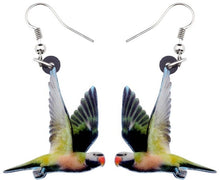 Cute Moustache parakeet pierced earrings