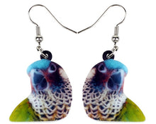 Painted Conure acrylic pierced earrings