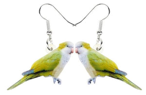 Quaker parrot Monk Parakeet Pierced Drop Earrings