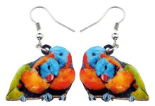 Cute lory parrots pairs pierced earrings