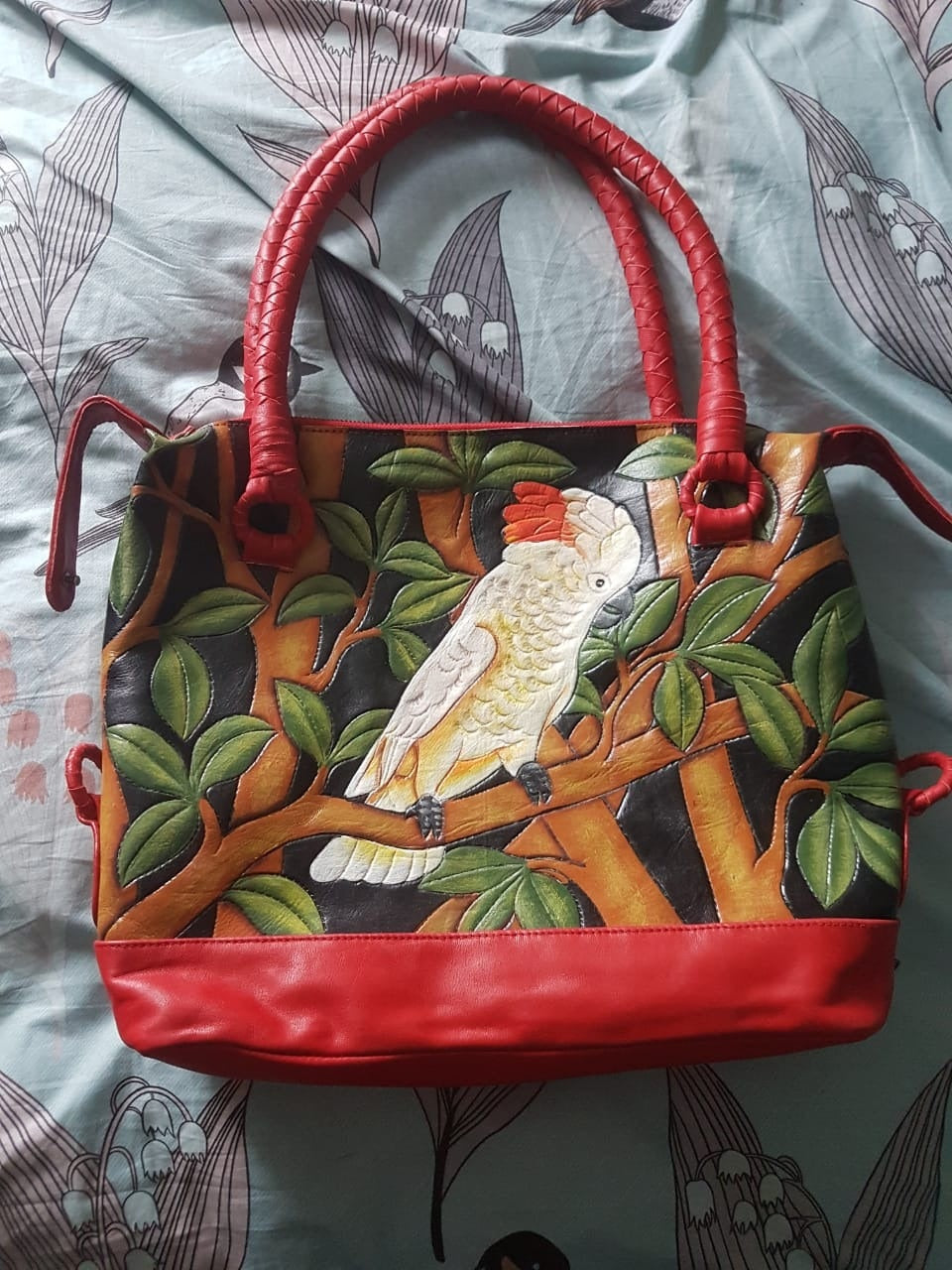 Moluccan Cockatoo Leather Bag